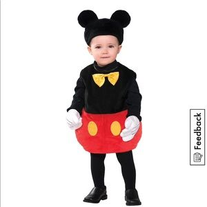 Mickey Mouse costume 0-6 months
